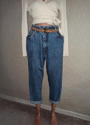 Офигенные джинсы mom, slouchy,высокая посадка l/xl