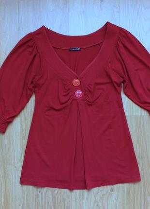 Блуза angie блузка кофточка цвет марсала вискоза прямая свободная
