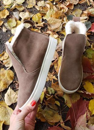 32-41 акция временная деми/зима  слипоны ботинки хайтопы кожаные замшевые