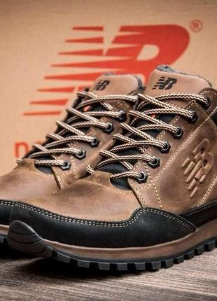 Мужские зимние кожаные кроссовки new balance