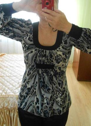 Туника блузка блуза кофта рукав 3д 3d принт анималистический подойдет для беременных