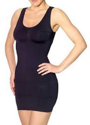 H&m divided базовое платье бандаж утяжка в обтяжку тренд мини чёрное