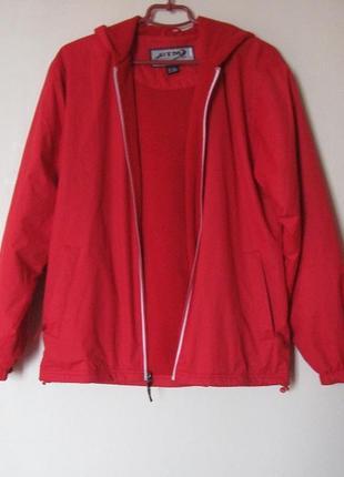 Утепленная курточка-ветровка на флисе gtm