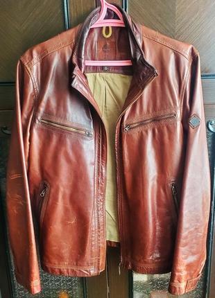 Куртка кожаная timberland