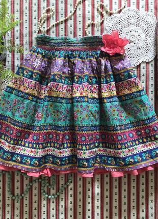 Яркая юбка хлопок monsoon на 7-8 лет (можно раньше)