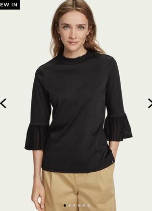 Блуза с рукавом плиссе 3/4 scotch&soda