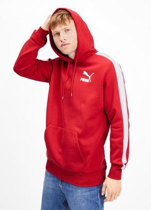 Стильное худи свежие коллекции puma ® iconic t7 men's fleece hoodie