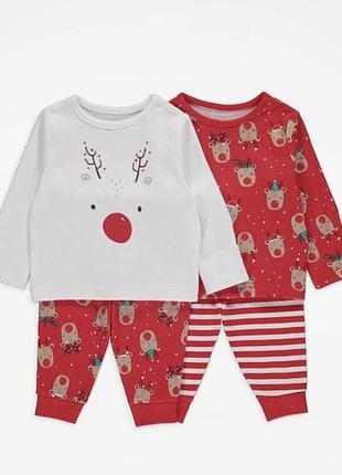 Піжама, новорічна піжама/. новогодняя пижама, пижама, george