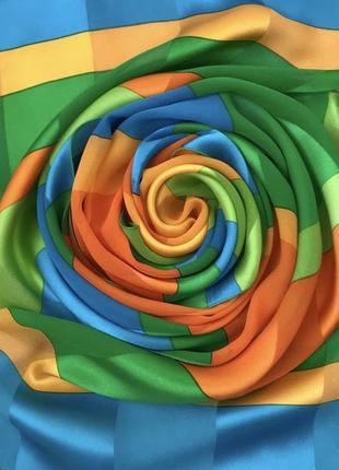 Дизайнерский ♥️♥️♥️ яркий шелковый шарф gordana london.