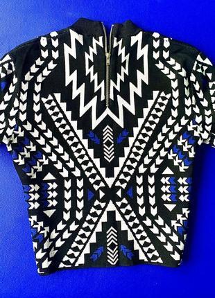Осенний французский стильный брендовый свитер/кроп топ/укорочённый топ бренда h&m