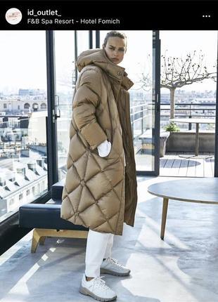 Пальто пуховик massimo dutti