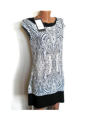 Стильное платье-туника с геометрическим принтом, с биркой, доставка бесплатно