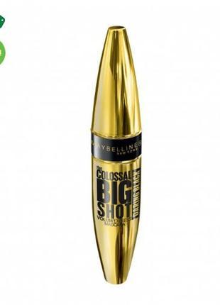 Тушь для ресниц maybelline the colossal big shot daring black экстра черная 9,5 мл