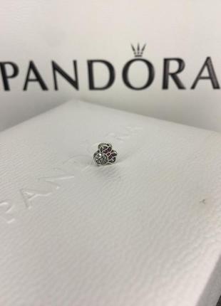 Петит для медальона новый минни маус серебро проба 925 оригинал пандора pandora