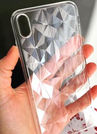 Чехол силикон прозрачный «битое стекло» для iphone /xs maх/6/6s