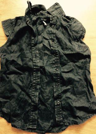 Блуза майка футболка armani jeans original лён
