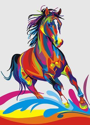 """Картина по номерах """"веселковий кінь"""""""
