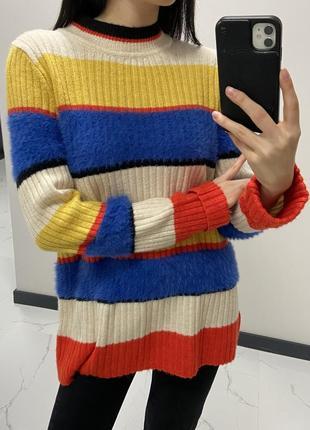 Тёплая мягкая кофта свитер гольф акрил