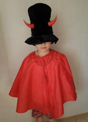 Карнавальный костюм детский чертёнок на хэллоуин/дождевик
