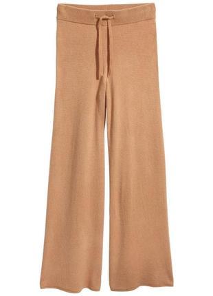 Широкие кашемировые брюки h&m premium quality p.32 xs