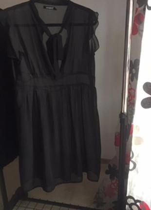 Шифоновое прозрачное платье s/m