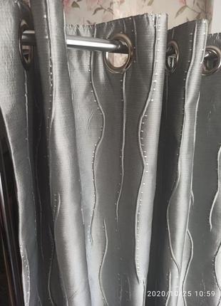 Фирменные качественные шторы на люверсах, блекаут, 2 шт. германия.
