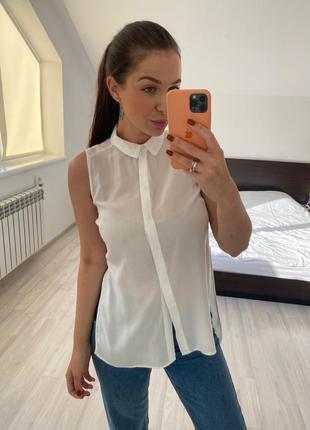 Блуза с разрезами bershka