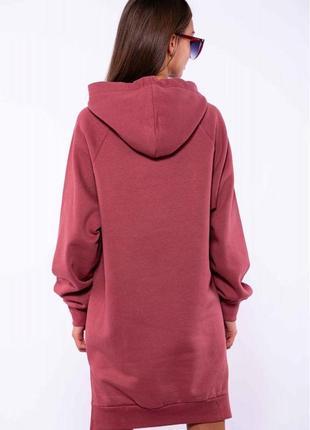 Женское  платье -  туника на флисе - разные цвета4 фото