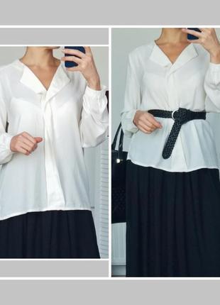 Красивая блуза свободного кроя цвета айвори шифоновая блузка