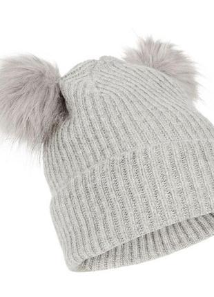 Мила шапочка з пушистими рожками accessorize
