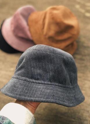 Тренд панама шляпа вельвет