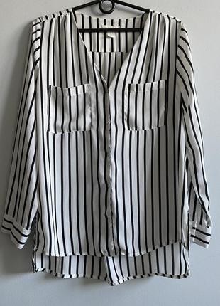 Блузка h&m рубашка в полоску женская