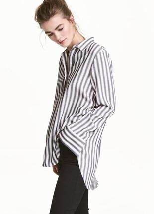 Блуза рубашка в полоску от h&m