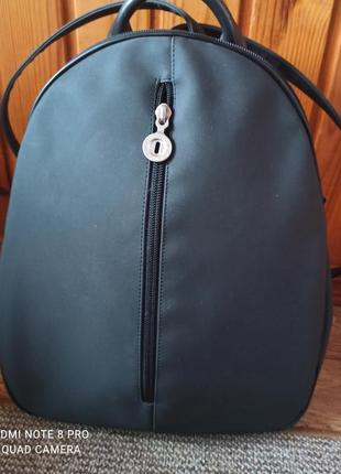 Крутий оригінальний рюкзак кожаная  отделка