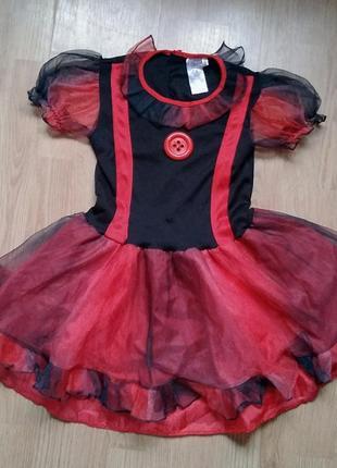 Платье клоунессы костюм на хеллоуин