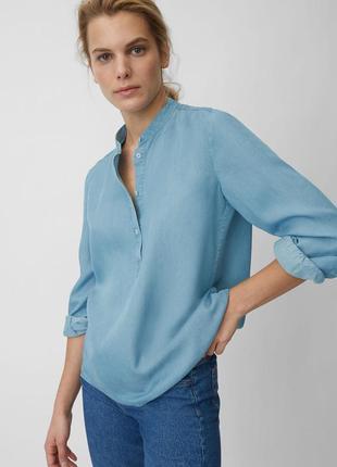 Рубашка джинсовая свободного кроя из лиоцелла marc o polo