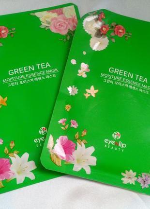Корея, маска тканевая с экстрактом зелёного чая
