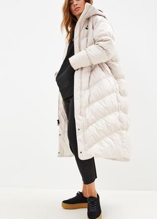 Роскошный длинный пуховик nike down fill, женская зимняя пуховая куртка nike