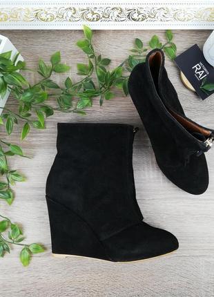 🌿37🌿европа 🇪🇺 zara. замша. стильные ботинки