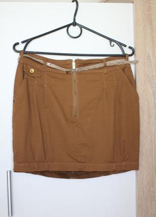 Юбка-мини на талии с карманами