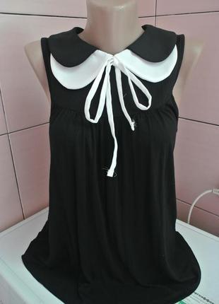 Распродажа!! модная нарядная маечка с воротничком