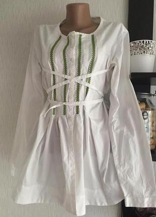 Блузка рубашка вышиванка braun