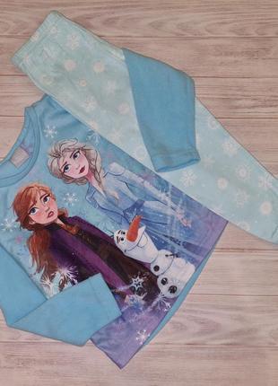 Пижама теплая george холодное сердце 2-3 года