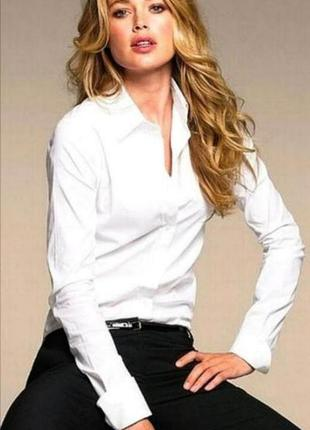 Mexx приталенная рубашка, сорочка, блузка, классическая рубашка, офисная