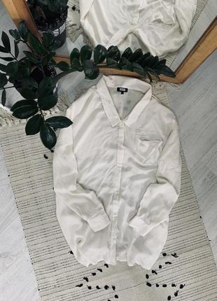 Біла оверсайз рубашка від bik bok🌿