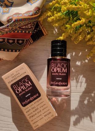 Парфюм женский yves saint laurent black opium exotic illusion