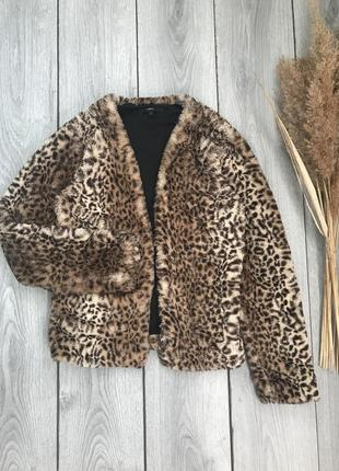 Next шубка шуба мягкая фирменная демисезонная леопард s 36 8