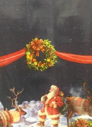 Новогодняя скатерть-клеенка декорама