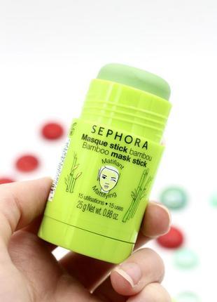 Маска для лица sephora - bamboo матирующая с бамбуком