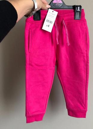 Теплые спортивные штаны george 1-1,5- года на флисе
